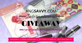 Ang Savvy International Makeup Giveaway May 2015