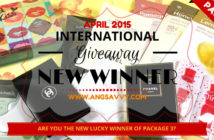 Ang Savvy International Makeup Giveaway New Winner of Package 3