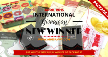 Ang Savvy International Makeup Giveaway New Winner of Package 3