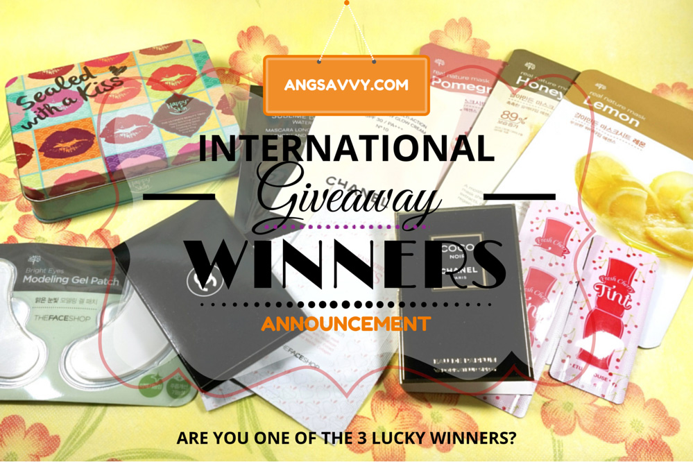 Ang Savvy International Makeup Giveaway Winners