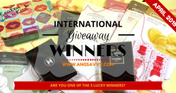 Ang Savvy International Makeup Giveaway Winners