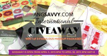 Ang Savvy International Makeup Giveaway April 2015