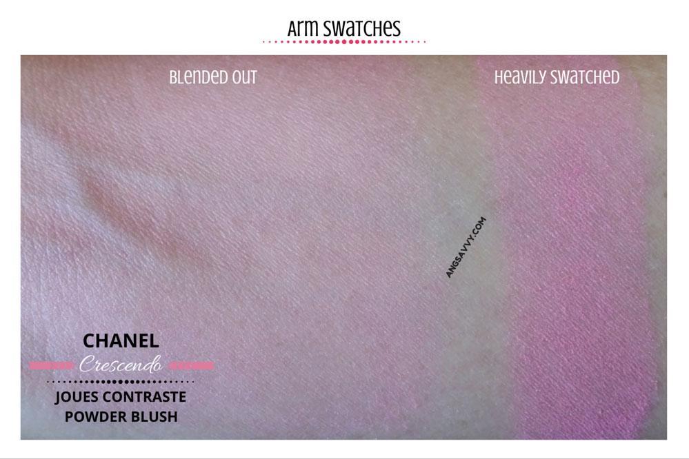 Chanel Crescendo Blush 250 Joues Contraste Swatches