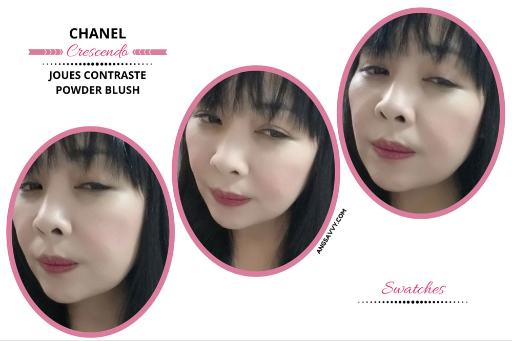 Chanel Crescendo Blush 250 Joues Contraste Swatches