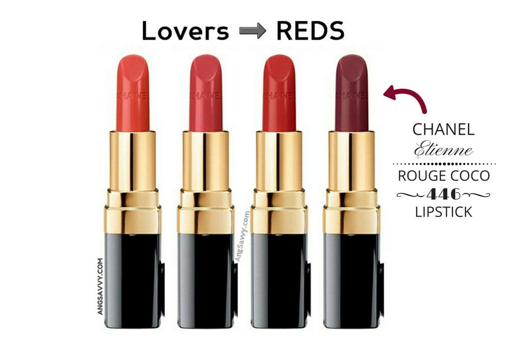 Chanel Etienne Rouge Coco Lipstick 446