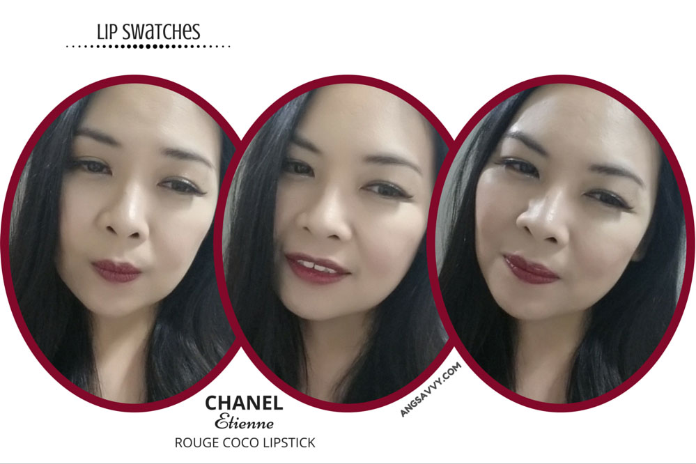 Chanel Etienne Rouge Coco Lipstick 446 Lip Swatches