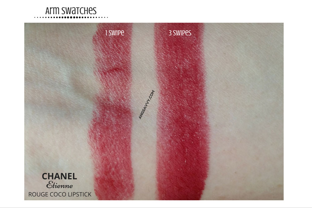 Chanel Etienne Rouge Coco Lipstick 446 Swatches
