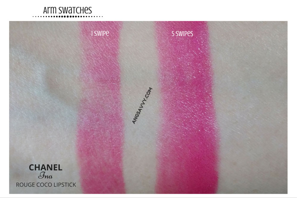 Chanel Ina Rouge Coco 450 Lipstick Swatches