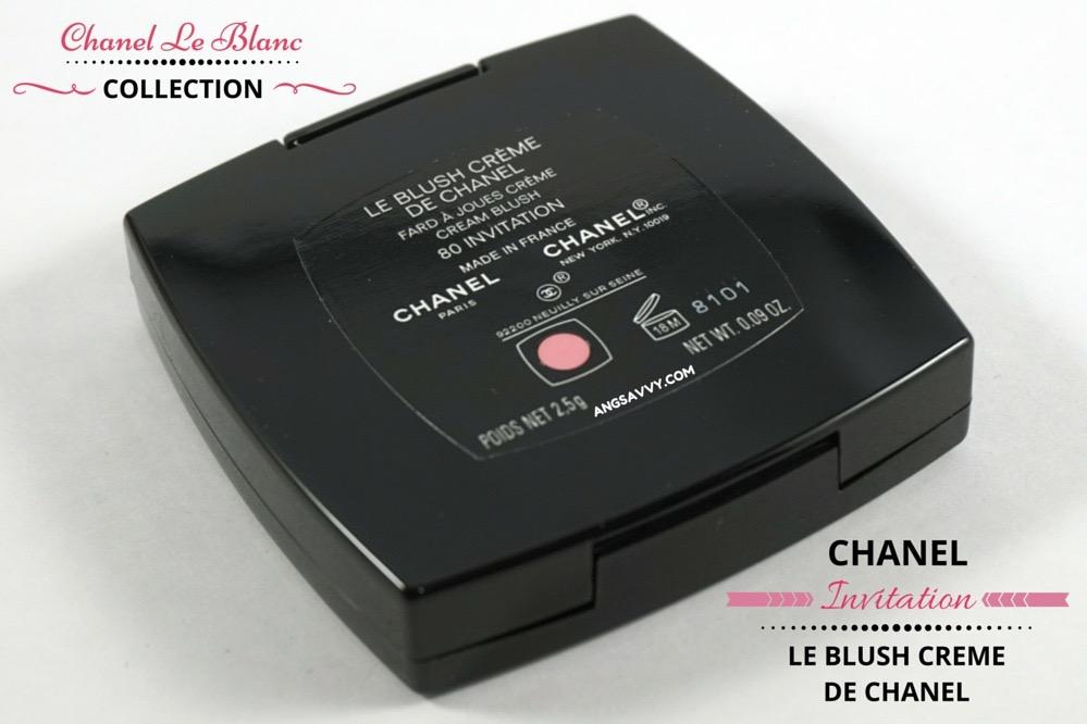 Chanel Le Blush Creme de Chanel 80 Invitation