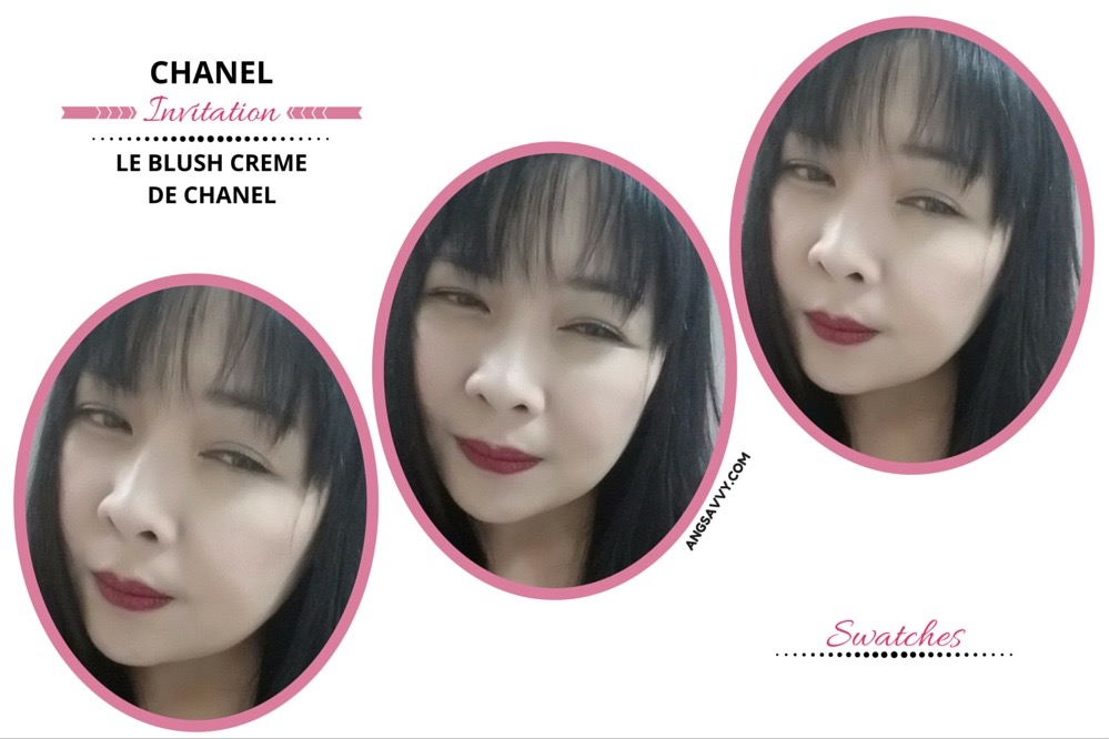 Chanel Le Blush Creme de Chanel 80 Invitation Swatches
