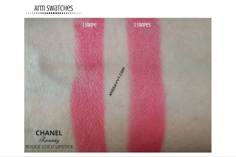 Chanel Roussy Rouge Coco 426 Lipstick Swatches