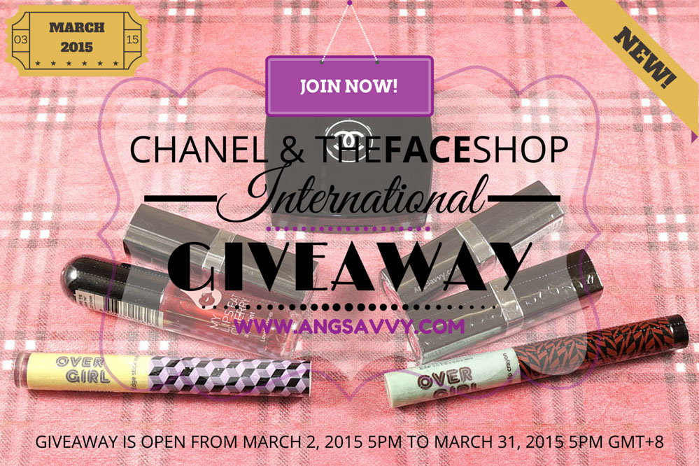 Chanel The Face Shop International Giveaway March 2015