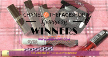 Chanel The Face Shop International Giveaway March 2015 Winners