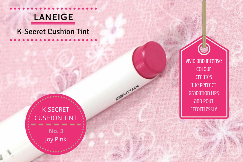 Laneige K-Secret Cushion Tint Joy Pink