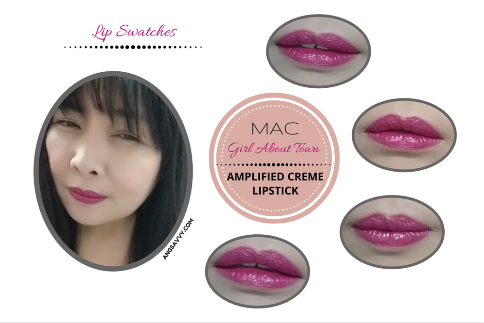 MAC Girl About Town Lipstick Lip Swatches
