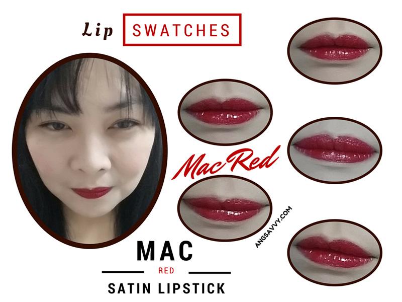 MAC Mac Red Lipstick Lip Swathes