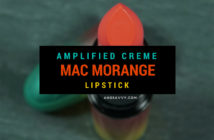 MAC Morange Lipstick Wash and Dry