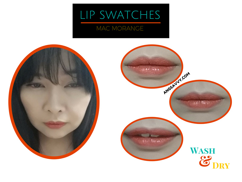 MAC-Morange-Lipstick-Wash-and-Dry-Lip-Swatches