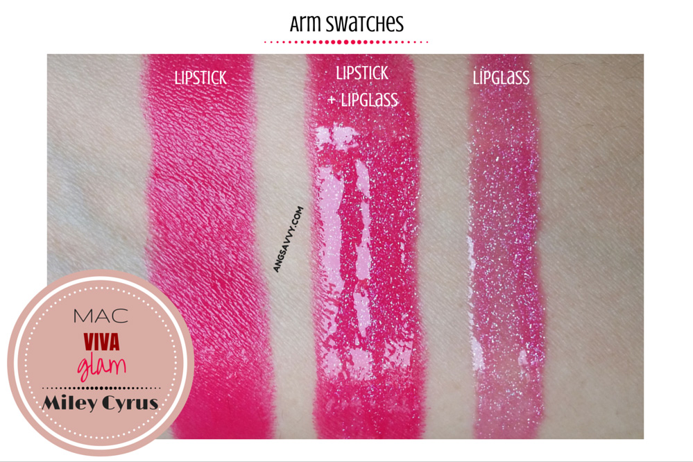 MAC Viva Glam Miley Cyrus Lipstick and Lipglass Swatches