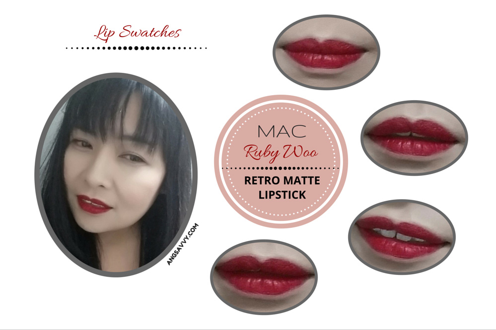 MAC Ruby Woo Lipstick Retro Matte Lip Swatches