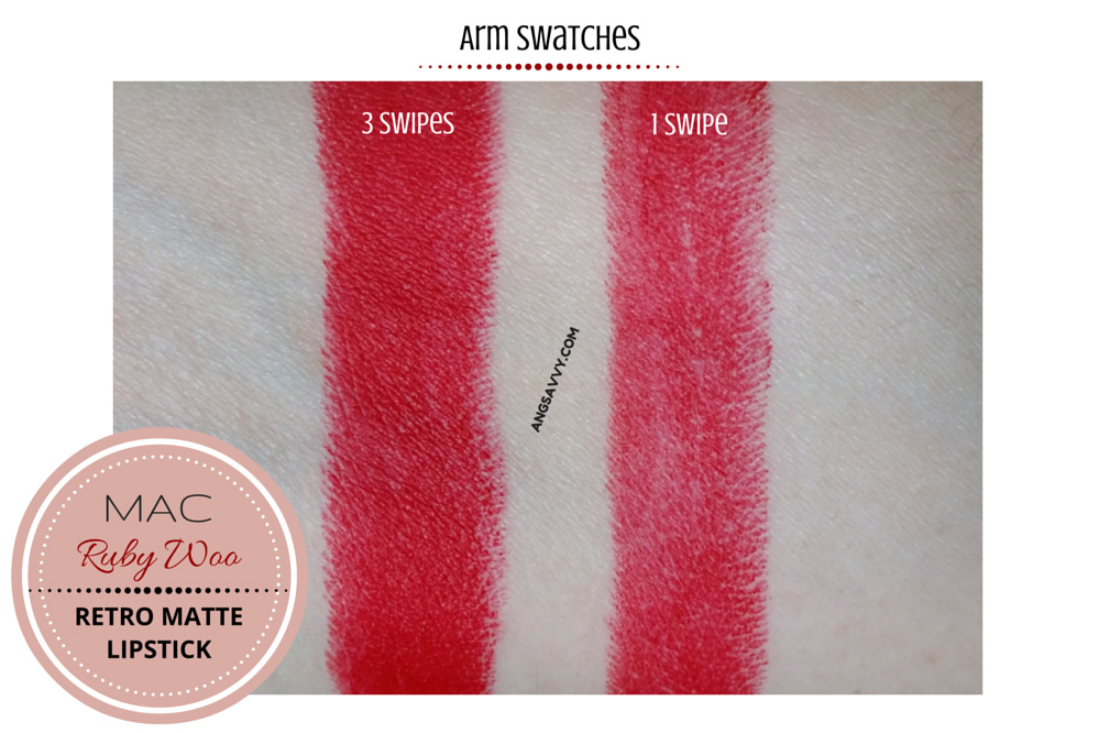 MAC Ruby Woo Lipstick Retro Matte Swatches
