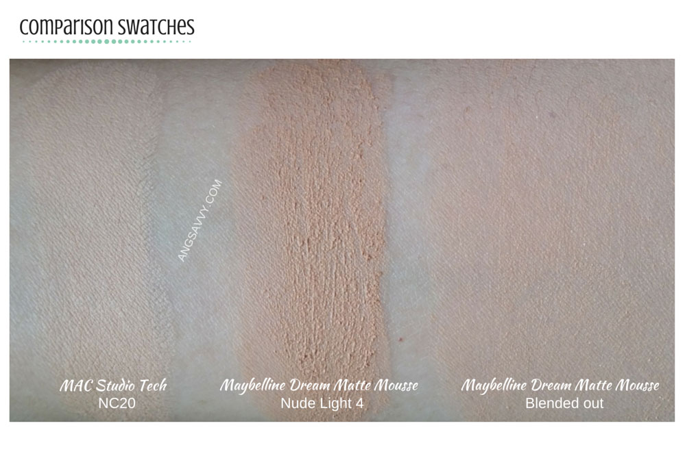 MAC Studio Tech Foundation Swatches
