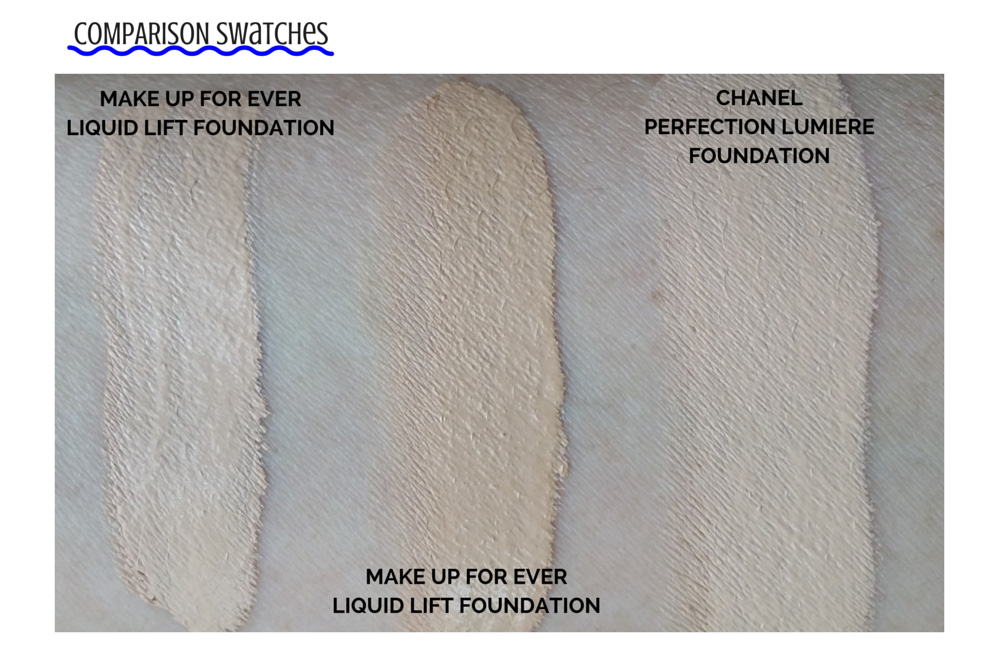 Make Up For Ever Liquid Lift Foundation Swatches