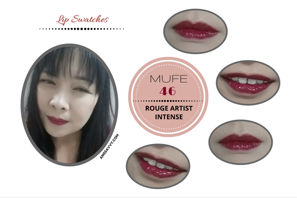 Make Up For Ever Rouge Artist Intense 46 Lipstick Lip Swatches
