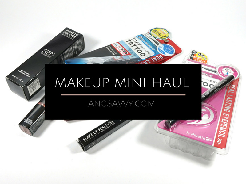 Makeup Haul MUFE NYX Maybelline K-Palette