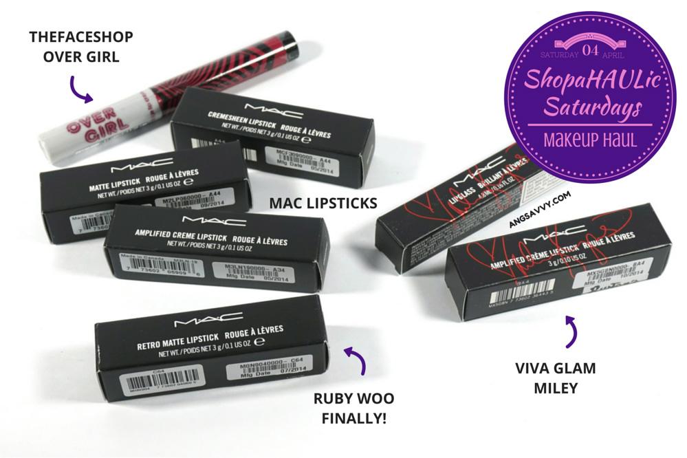 Makeup Haul MAC and The Face Shop