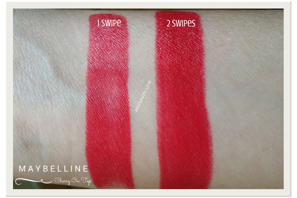 Maybelline Color Show Cherry On Top Listick Swatches