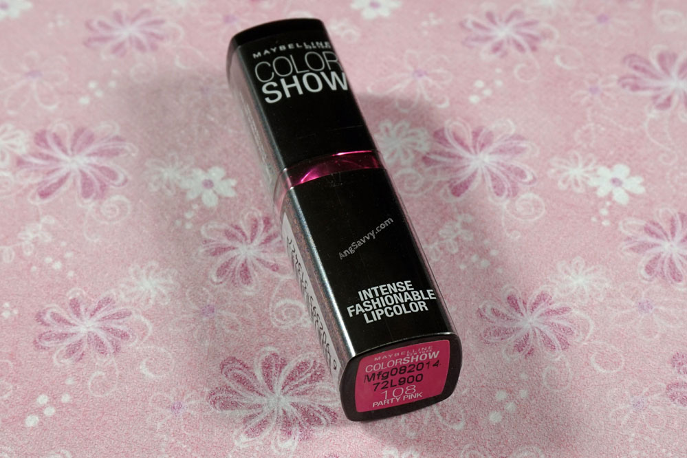 Maybelline Color Show Party Pink Lipstick (Detailed Review ...