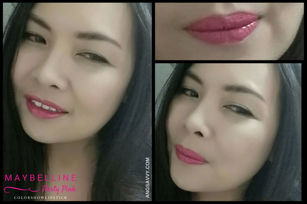 Maybelline Color Show Party Pink Lipstick Lip Swatches