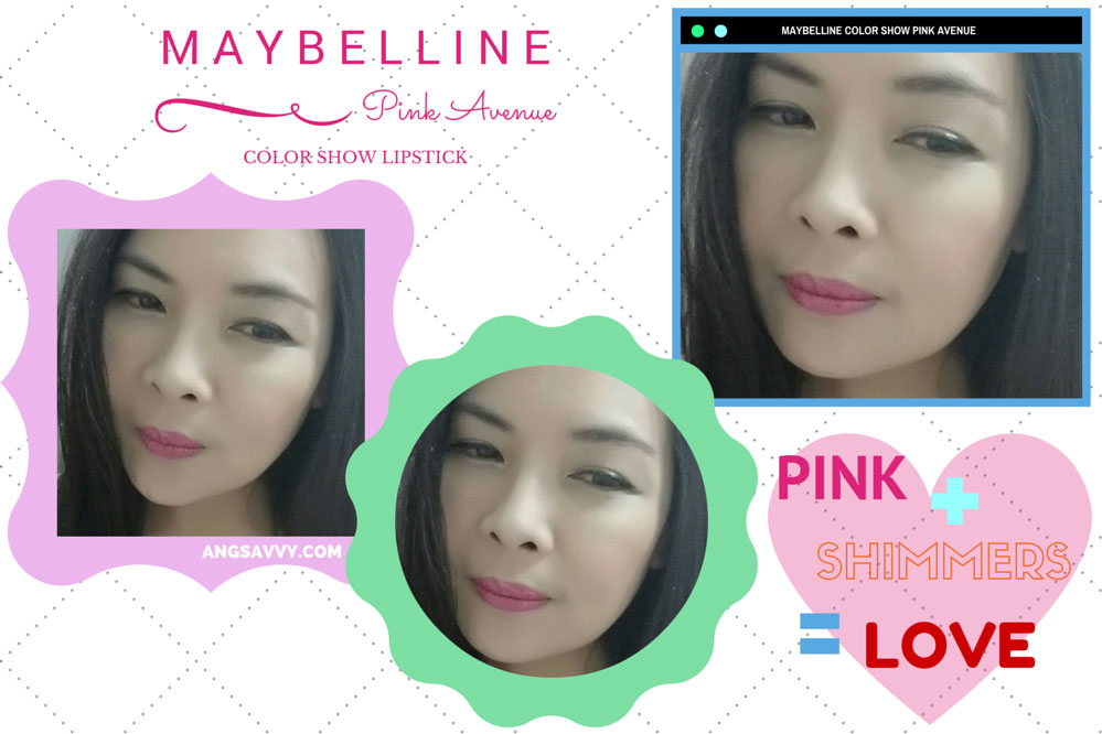 Maybelline Color Show Pink Avenue Lipstick Lip Swatches
