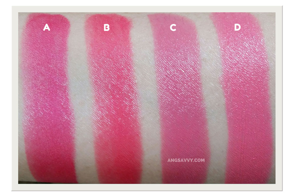Maybelline Color Show Pink Avenue Lipstick Swatches