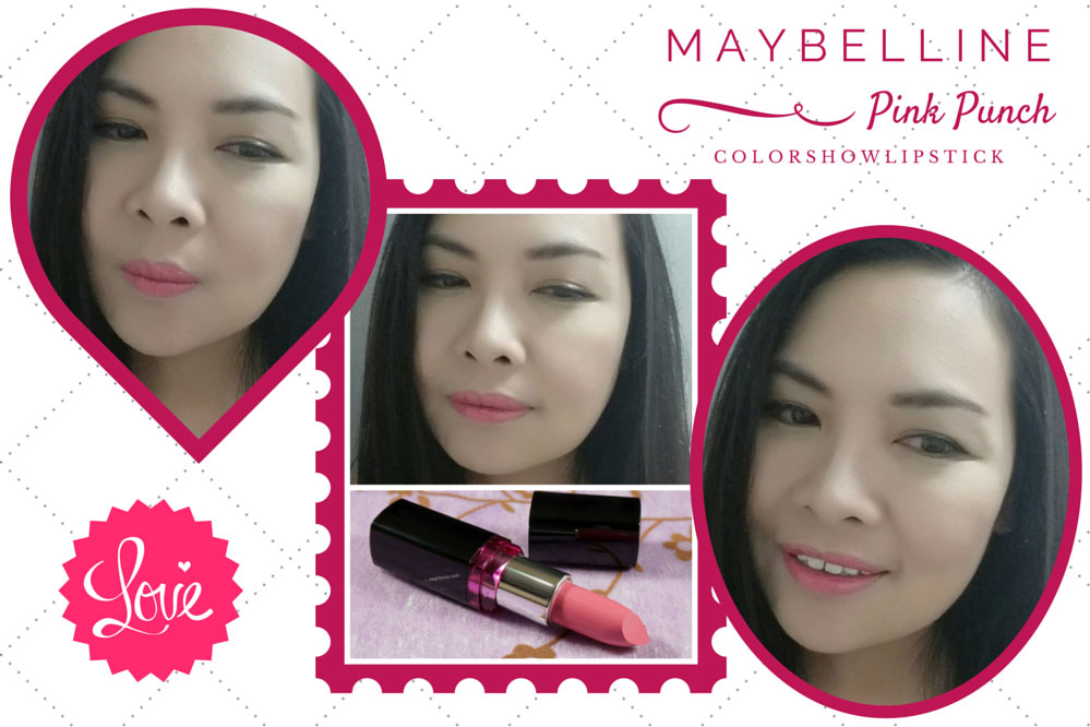 Maybelline Color Show Pink Punch Lipstick Lip Swatches