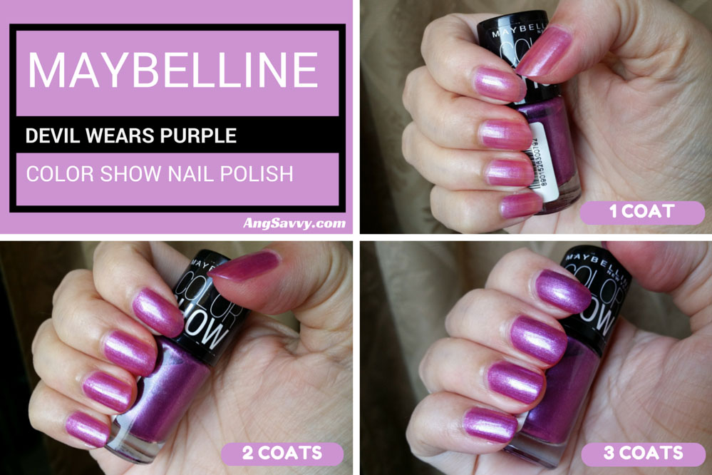 Maybelline Devil Wears Purple Color Show Nail Polish
