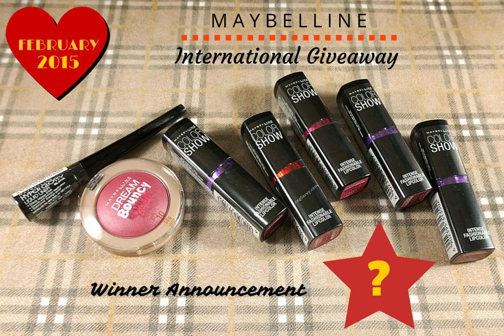 Maybelline International Giveaway Winner