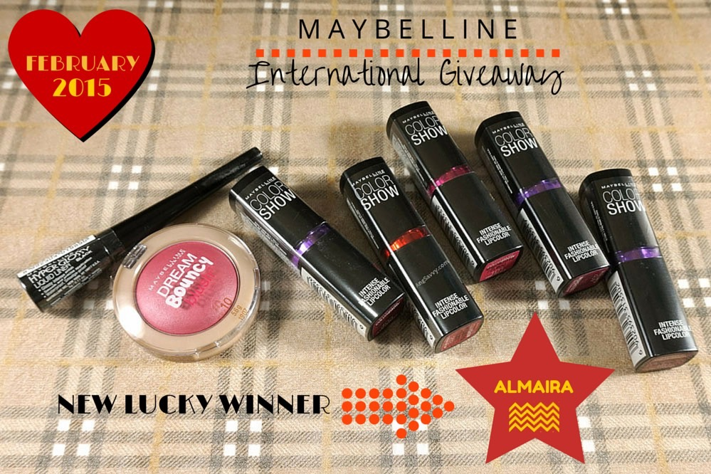 Maybelline International Giveaway Winner