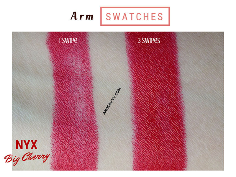 NYX Butter Lipstick Big Cherry BLS19 Swatches