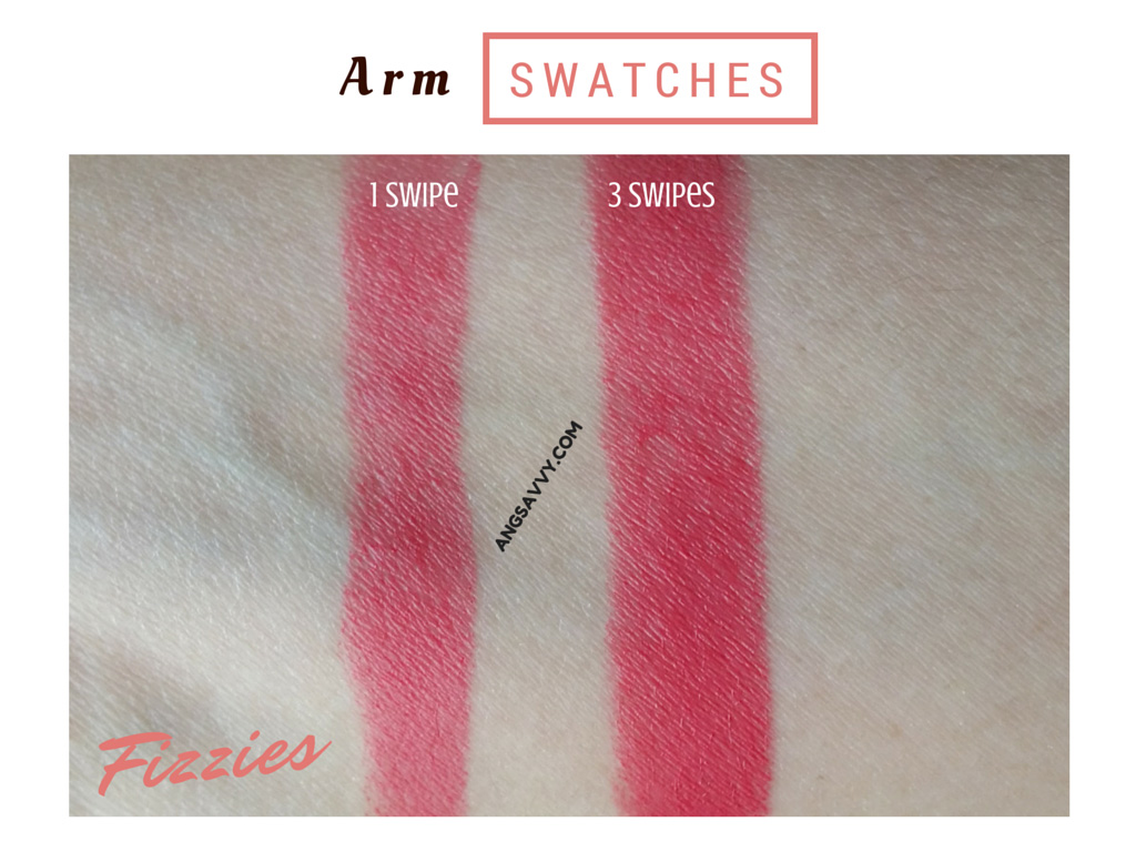 NYX Butter Lipstick Fizzies BLS21 Swatches
