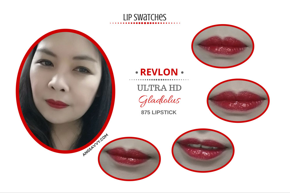 Revlon Ultra HD Lipstick 875 Gladiolus Lip Swatches