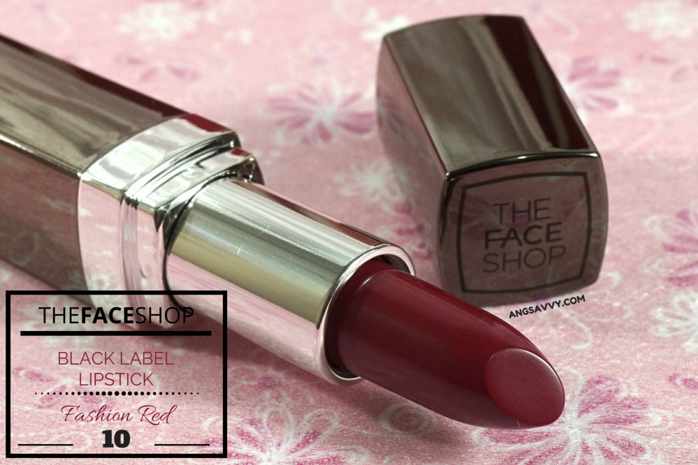 The Face Shop Black Label Lipstick 10 Fashion Red