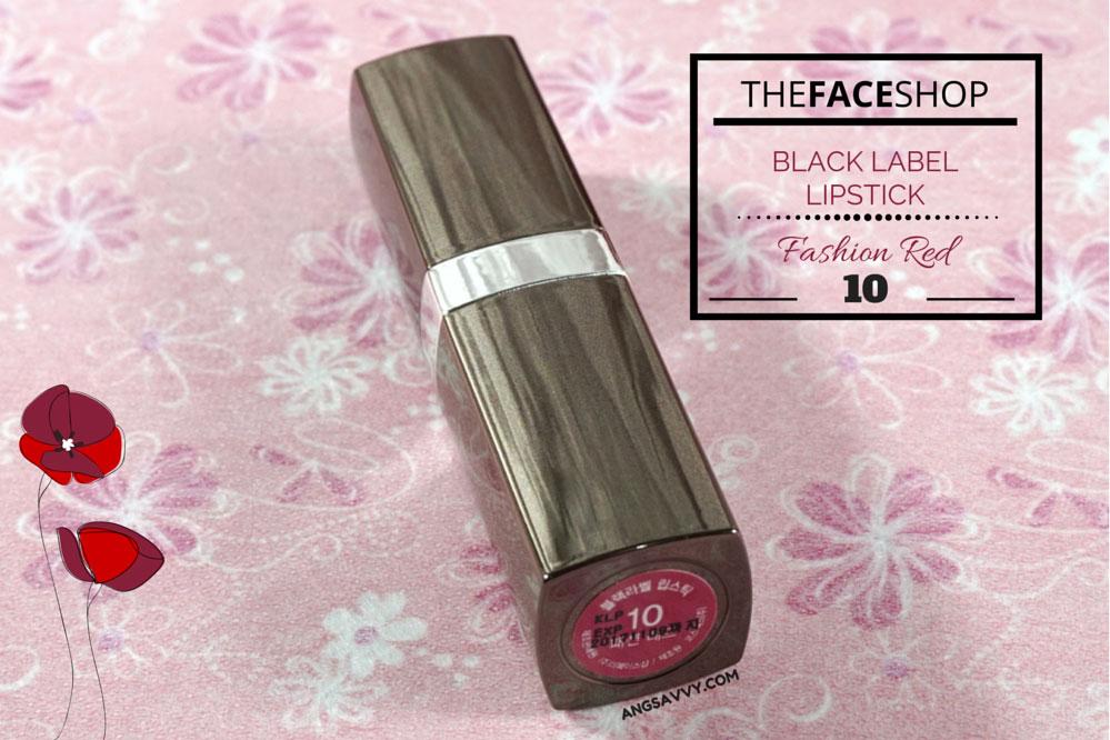 The Face Shop Black Label Lipstick 10 Fashion Red