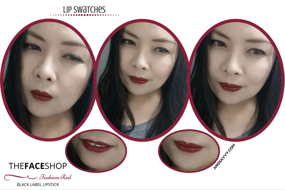 The Face Shop Black Label Lipstick 10 Fashion Red Lip Swatches
