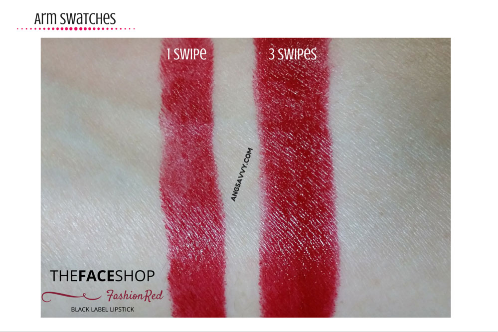 The Face Shop Black Label Lipstick 10 Fashion Red Swatches