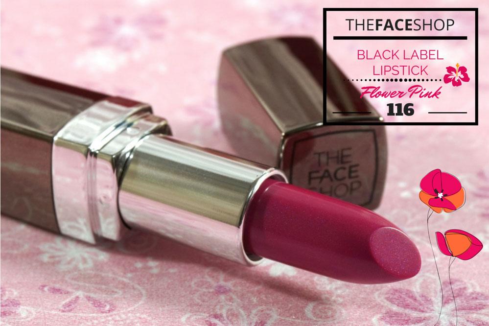 The Face Shop Black Label Lipstick 116 Flower Pink