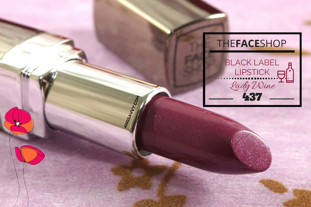 The Face Shop Black Label Lipstick Lady Wine 437