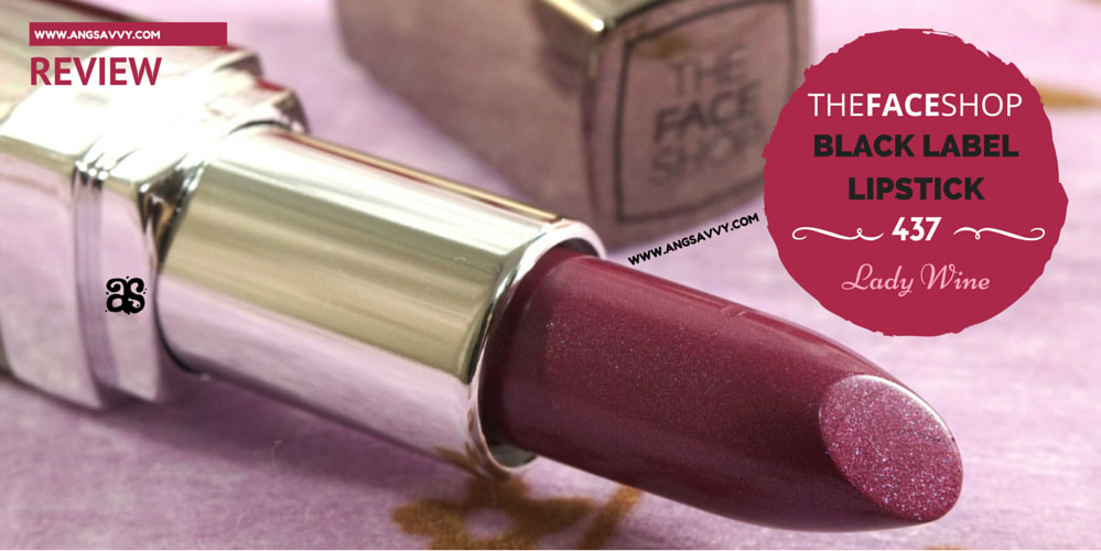 The Face Shop Black Label Lipstick Lady Wine 437