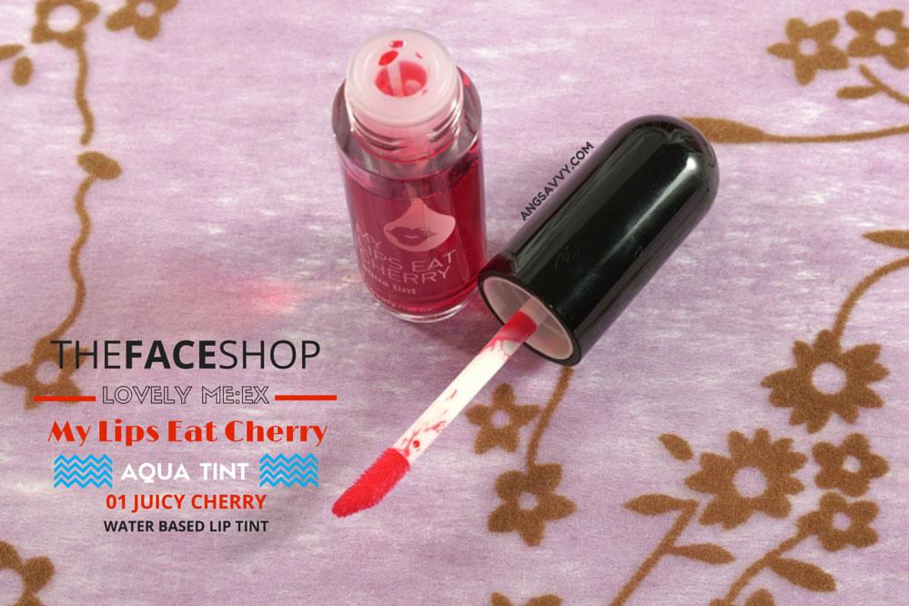The Face Shop My Lips Eat Cherry Aqua Tint Juicy Cherry